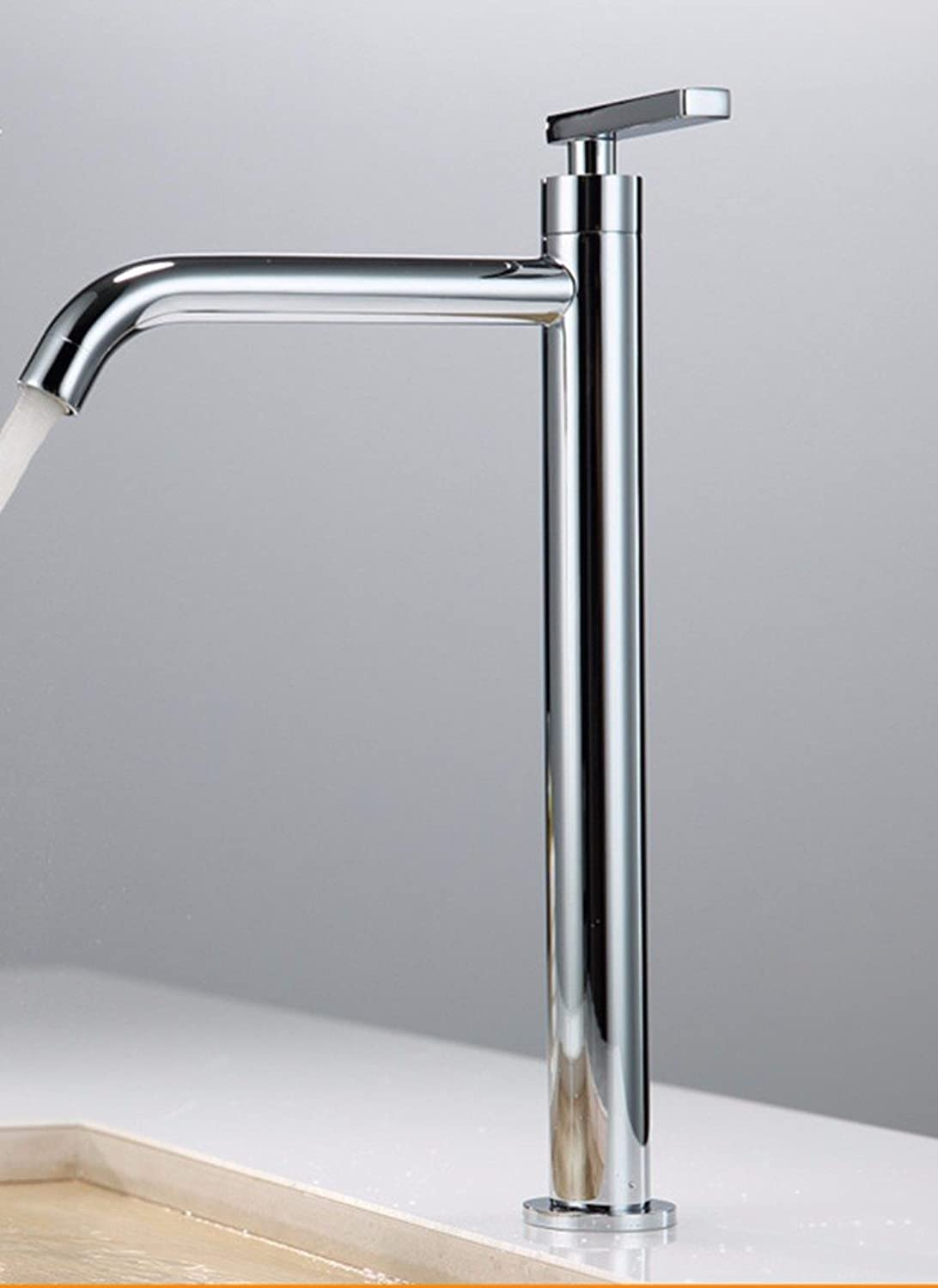 Hlluya Professional Sink Mixer Tap Kitchen Faucet Copper basin single hole, Washing Face, plus high, sink and faucet