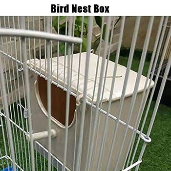 flower205 Cage à Oiseaux nid d'oiseau, Corde de Coton nid d'élevage d'oiseaux Perruche Cockatiel Conure canari Finch inséparable et Petit Perroquet Cage éclosion nichoir