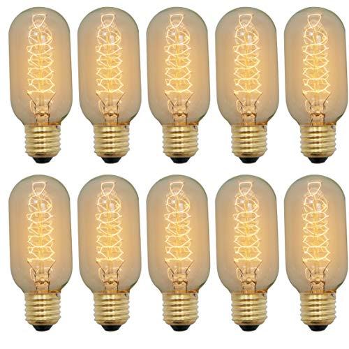 ZXNM Edison tungsteno bombilla Tornillo E27 Tungsteno Clásico Bombillas Artísticas 220v 4w Fuente de luz cálida Decoración de iluminación antigua 10 piezas/paquete