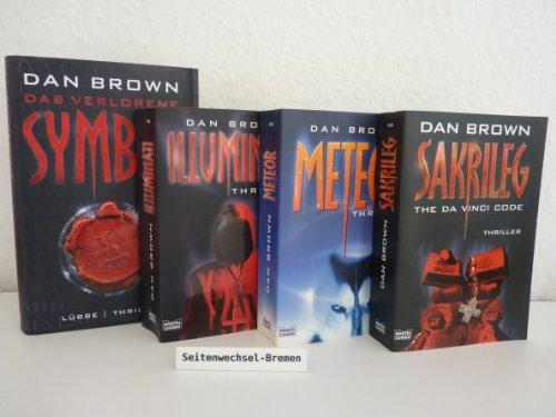 4 x Dan Brown: 1. Illuminati. 2. Meteor. 3. Sakrileg. 4. Das verlorene Symbol.