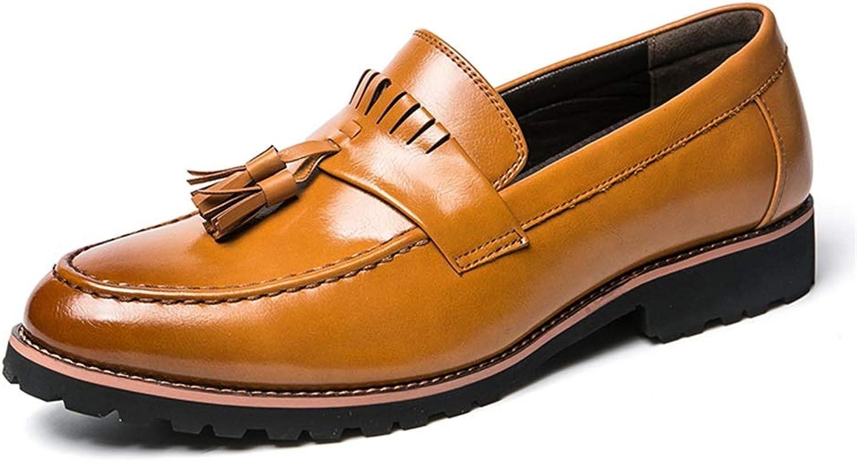 JUJIANFU-Bequeme Schuhe Hochwertige Herrenmode Oxford Tglich Komfortable Laufsohle Klassische Quaste Slip On Schuhe