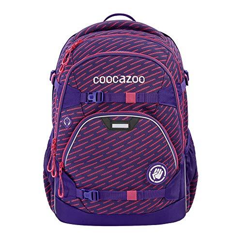 """coocazoo Schulrucksack ScaleRale """"FreakaSneaka Rose Purple"""", lila, ergonomischer Tornister, höhenverstellbar mit Brustgurt und Hüftgurt, ab der 5. Klasse"""