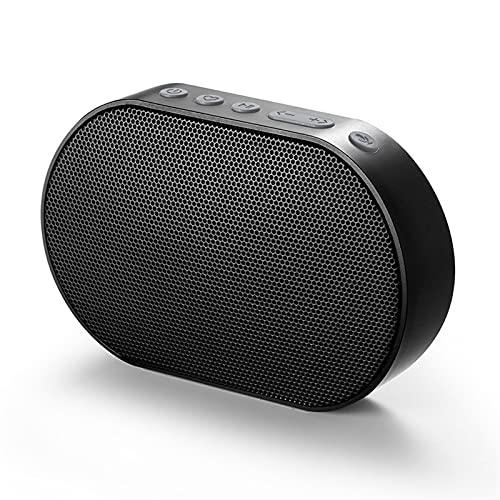 QPLKL Altavoces Bluetooth Altavoz portátil Bluetooth Smart WiFi Speaker 10W Altavoz Estéreo Sound 15h Reproducción Mic Handsifree Mic Outdoor Column Amplificación de Sonido (Color : Black)