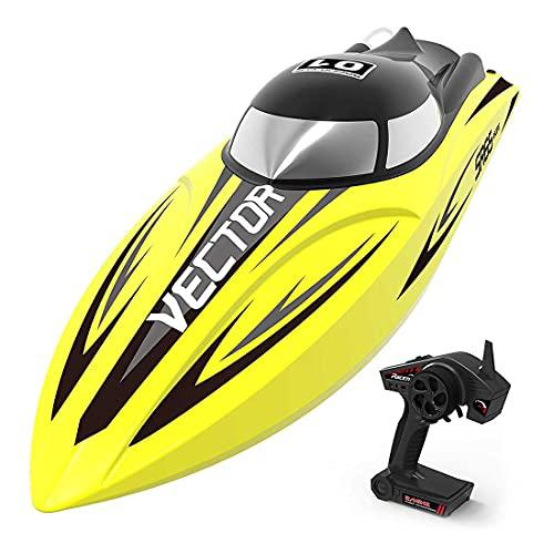 YYGE Ferngesteuerten Boote VOLANTEXRC Vector, 2.4G 60KM/H schnelle Geschwindigkeit Rennboot Modell Zweiwege Elektroboote Wasserdichtes Spielzeug