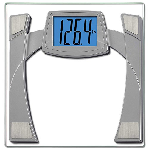 EatSmart Precision MaxView Digital Bathroom Scale w/ 4.5' Backlit LCD Display, Silver