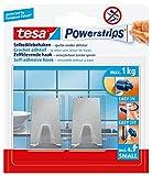 Tesa Powerstrips Haken (Small Metall eckig) silber-matt