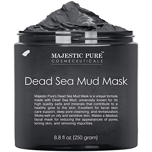 MAJESTIC PURE Dead Sea Mud Mask for Face and Body - Natural Skin Care for Women and Men - Best...