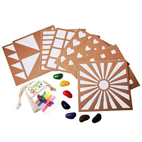 Crayon Rocks Rubeez Texture Templates Plus 8 color crayons in a Muslin Bag