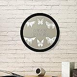DIYthinker Resumen de la Mariposa Blanca de Origami patrón de la Pintura del Arte de Fotos de imágenes de Madera Marco Redondo Regalo a casa decoración de la Pared Grande Negro