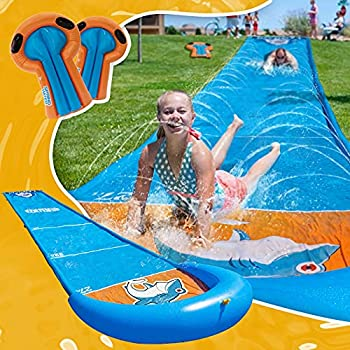 Slip and Slide Water Slide 31ft Slip and Slide for Kids and Adults Include 2 Bodyboards