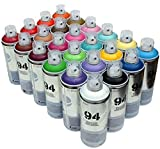 PINTURA en Spray MTN 94–24x 400ml aerosol spray de pintura latas–mate acabado, sintética pintura
