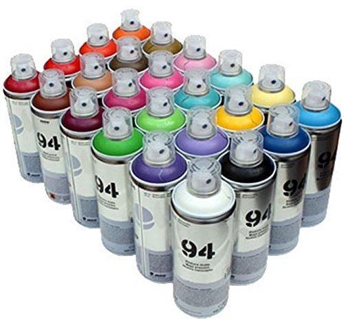 MTN 94 - Pintura en aerosol (24 botes de 400 ml, acabado mate, pintura sintética)
