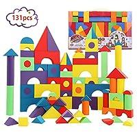 積み木 型はめEVA素材 組み立てブロック (131PCS) FOR 6+