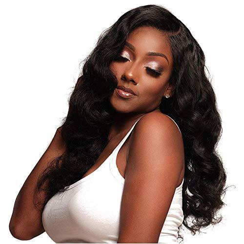 SEXYY Femme Perruque afro Nature 26 pouces de long Middle Parting boucles Wig noir naturel réaliste grandes vagues Full Wigs,Afro résistant à la chaleur Perruque pleine crépée