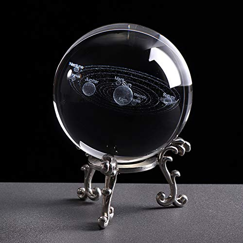Bola de Cristal del Sistema Solar, Bola de Cristal Galaxy, Estilo de Moda, decoración hogar, Mejor Regalo para astrónomo, Profesor de física, Regalo de Novia