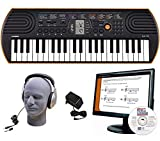 Casio SA-76 EDP Personal Keyboard Package with Closed-Cup Headphones, Power Supply and Instructional Software