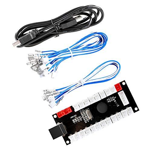 Reyann PS3 / PC Null Verzögerung Arcade USB Encoder USB zum Joystick Für MAME & Raspberry Pi Retropie Projekte 2Pin - 4.8mm