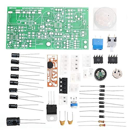 MING-MCZ Duradero Kits de sensores Infrarrojos pirroeléctricos DIY Circuito antirrobo Circuito de tecnología electrónica Conjunto de 3 Juegos Fácil de Montar
