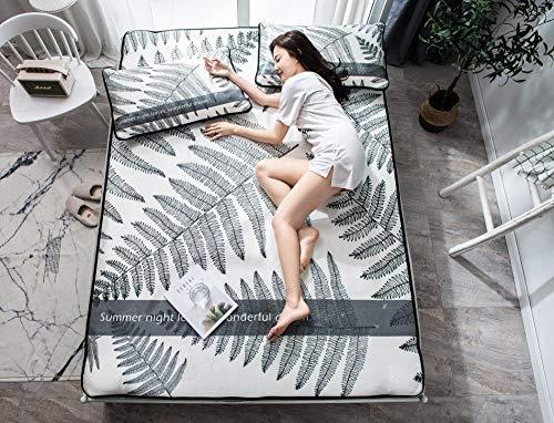 zlzty Sommer Ice Silk Jacquard Sandwich Matte Klimaanlage Sitze, Einzelbettbezug, Einzelbett, Kingsize-Bettwäsche Setduvet Single @ Amy_90 * 190 EIN Stück