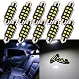 Grandview 10pcs 36MM C5W Feston Blanc Canbus Avec Puces 8-2835-SMD 6411 6413 6418 C5W...