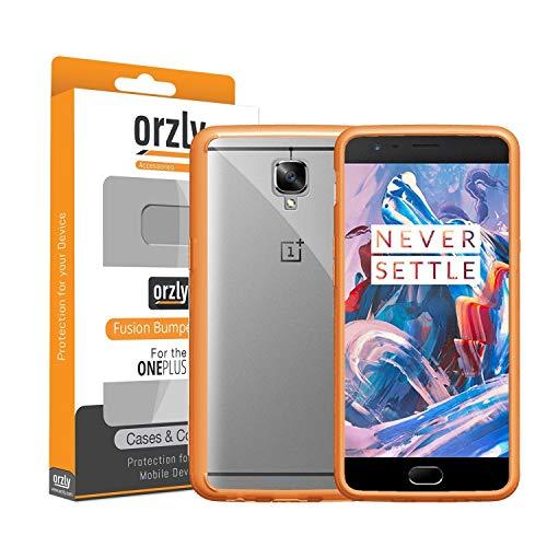 Orzly Custodia OnePlus 3T / OnePlus 3, Fusion Bumper Cover per OnePlus3 & OnePlus3T (2016 Modelli) - Cover con Tecnologia di Assorbimento Urto - Nera