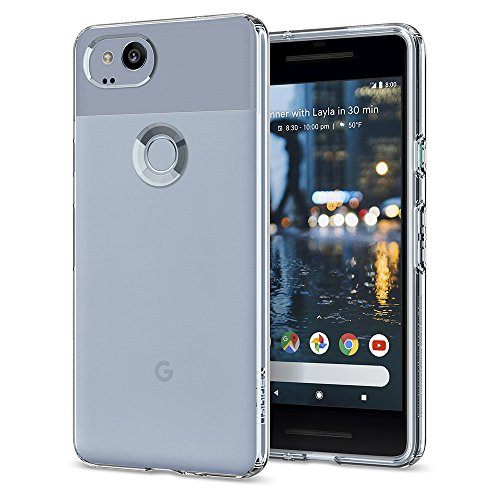 Spigen F16CS22272 Liquid Crystal Google Pixel 2 Hülle Soft Flex Silikon Transparent TPU Durchsichtige Schutzhülle Case - Crystal Clear