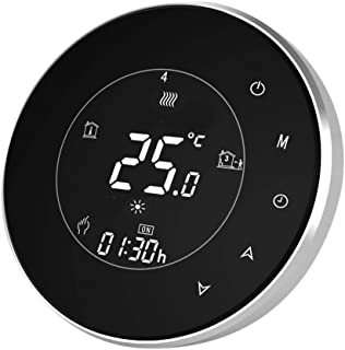 Qiumi Termostato redondo Wifi Termostato de agua programable de Wifi Pantalla LCD El controlador de temperatura funciona c...