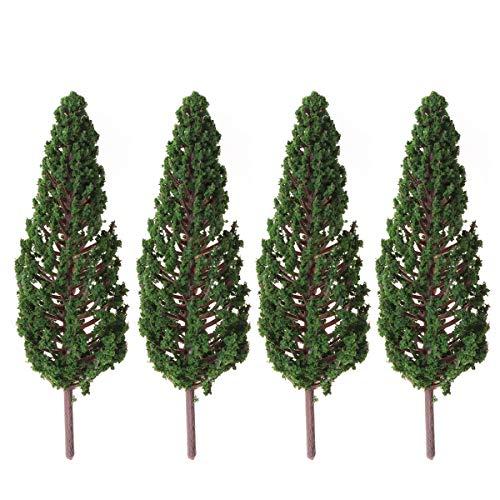 WINOMO Lot de 10 arbres artificiels de paysage vert (13 cm)