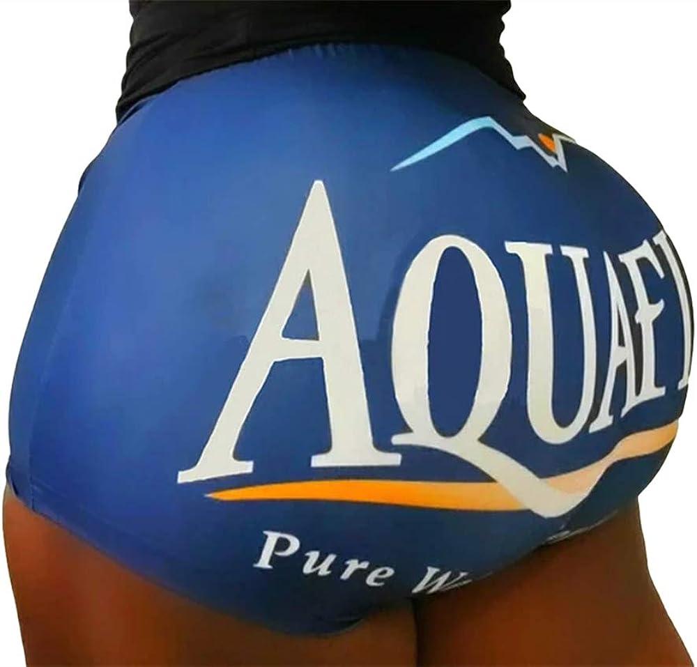 NEWSITE Women's Workout Casual 3D Print Shorts High Waisted Butt Lifting Sports Biker Shorts