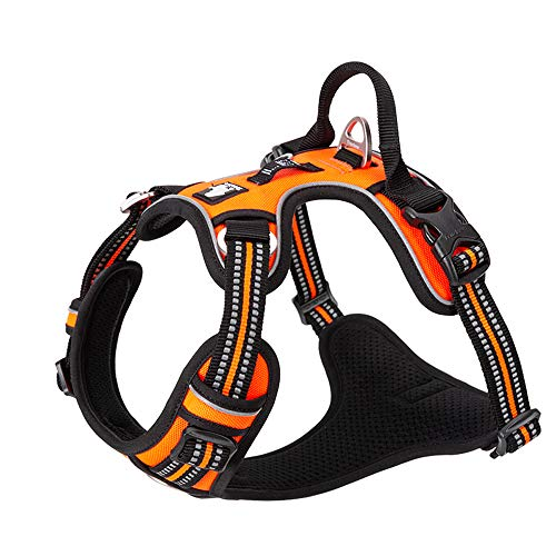 TRUE LOVE Dog Harness No Pull Nylon Reflective Pet Harness Adjustable Comfortable Control Step-in Brilliant Colors Truelove TLH56512