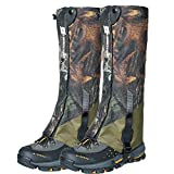 Ueasy Snake Guard Leggings, Heavy Duty Waterproof Outdoor Hunting Gaiters Boots -Prevent Insect Bite, Against Sharp Rocks & Thorns for Hiking Skiing Climbing and Camping (Camouflage, Length:16.7')