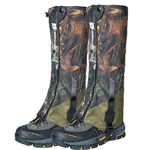 Ueasy Leg Gaiters, Boot Gaiters Waterproof Leg Gaiters for Men and Women...