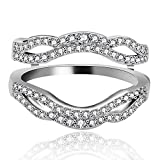 Uloveido Anniversary Wedding Ring Enhancer Guard per Donne Impegno Anello Enhancer in Arge...