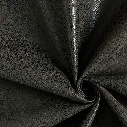 Polsterstoff Lederimitat Toho – dunkelbraun — Meterware ab 0,5m — STANDARD 100 by OEKO-TEX® Produktklasse II — zum Nähen von Sitzgelegenheit und Stuhlauflagen