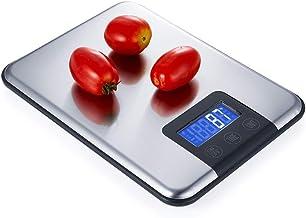 balanças de cozinha digitais, balanças de cozinha de aço inoxidável com função de tara, balanças de alimentos de design ul...