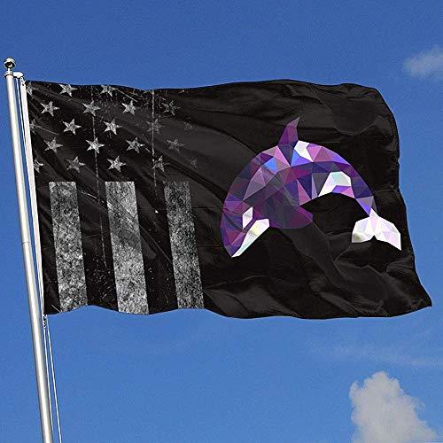 Elaine-Shop Outdoor Flaggen Dreieck Orca Abgenutzte USA Flagge 4 * 6 Ft Flagge für Wohnkultur Sport Fan Fußball Basketball Baseball Hockey