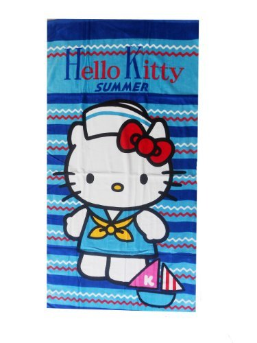 Hello Kitty Toalla de playa y baño.