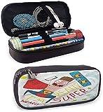 KLKLK astuccio Quirky Art Pencil case Im Nearly Super Kitesurfing Soft Pencil case Easy to...