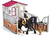 Schleich 42437 Spielset - Pferdebox mit Horse Club Tori & Princess (Horse Club), Mix