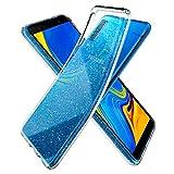Spigen [Liquid Crystal Glitter Kompatibel Mit Samsung Galaxy A7 2018 Hülle, Glitzer Design Transparent TPU Silikon Handyhülle Durchsichtige Schutzhülle Flex Hülle - Crystal Quartz