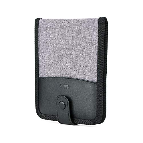 KIWIFOTOS Funda para tarjetas de memoria con ranuras 18 tarjetas SD TF/NS(Nintendo Switch) para tarjetas SD, tarjetas Micro SD - gris