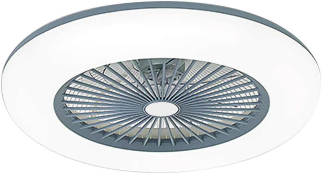 Ventilador de Techo con iluminación Luz, Lampara LED Techo Ajustable Velocidad del Viento Regulable con Control Remoto sin batería 36W Luz de Techo LED Moderna para Dormitorio Sala de Estar Comedor