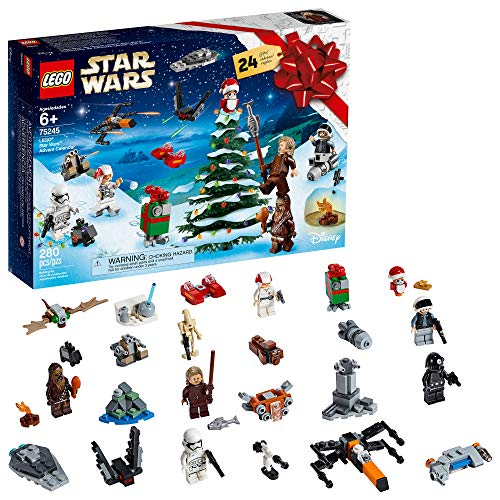 LEGO Star Wars 2019 Advent Calendar 75245 Holiday Gift Set Building Kit with Star Wars Minifigure Characters (280 Pieces)