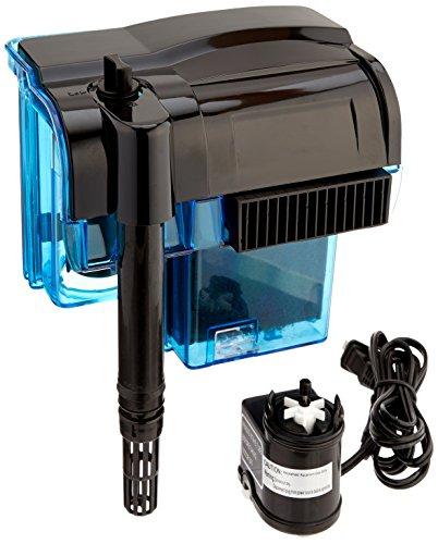 Penn-Plax Cascade Hang-on Aquarium Power Filter for 55 Gallon Aquaria, 185 GPH Flow