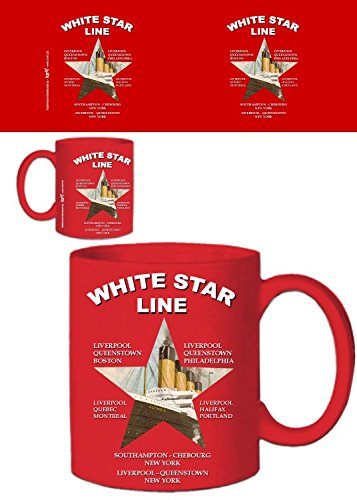 1art1 Titanic, White Star Line, Olympic, Desde Southampton hasta Nueva York Taza...
