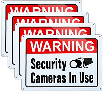 Video Surveillance in Use Sign Warning Security Cameras in use Sign Large 10x14 Inch Aluminum product image