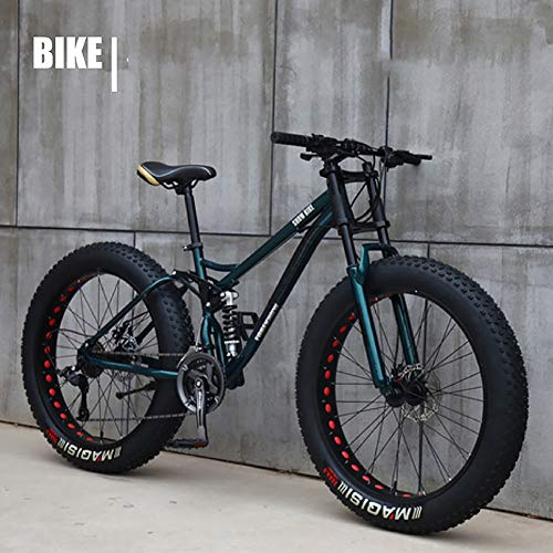 XIAOFEI Fahrrad 26 Zoll MTB Top, Fat Wheel Motorrad/Fat Bike/Fat Tire Mountainbike Beach Cruiser Snow Bike Big Reifen Fahrrad 21 Speed Fat Bikes für Erwachsene,Bronze,26IN