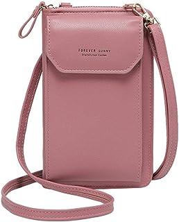 Crossbody Tasche Handytasche Brieftasche Damen Umh/ängetasche Geldb/örse mit Credit Card Slots f/ür Frauen Blau
