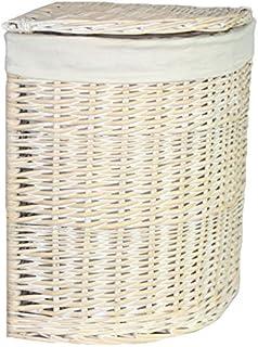 Red Hamper Grand Angle White Wash Panier à Linge avec Une Doublure Blanche