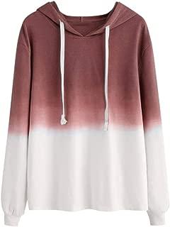 Tie Dye Hoodie for Women Long Sleeve Sweatshirt Loose Pullover Fashion Hoodies Colorblock Tops